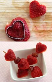 Strawberry Hearts Valentine Snacks – tutorial shared by Modern Parents Messy Kids