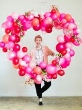 Valentine's Day Balloon Heart –tutorial shared by The House That Lars Built