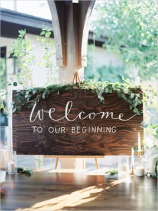 Welcome To Our Beginning Wood Sign – shared on Wedding Chicks