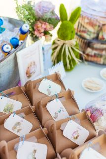 Bunny Rabbit Party Favors – shared on Kara's Party Ideas