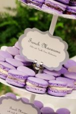 Purple French Macarons – shared in a roundup post by MODwedding