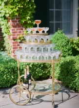 Champagne Glass Tower Station – shared in the Style Me Pretty Vault