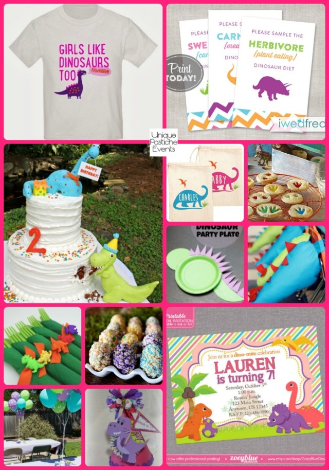 Colorful Dinosaur Party Ideas for Girls by Unique Pastiche Events