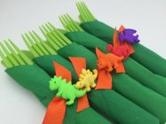 Dinosaur Party Cutlery and Napkin Flatware Set – created and sold by MadHatterPartyBox on Etsy
