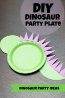 DIY Dinosaur Party Plate Tutorial – shared by Spaceships and Laser Beams