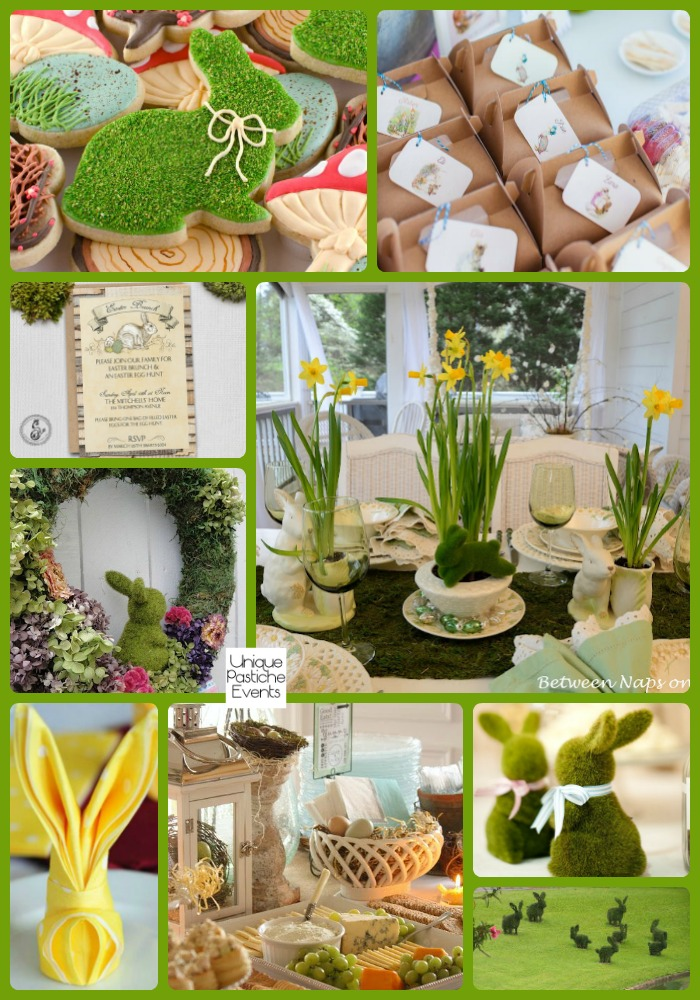 Moss and Bunnies Inspired Easter Morning Brunch See the full post with all the details: https://uniquepasticheevents.com/2016/03/16/moss-and-bunnies-inspired-easter-morning-brunch/