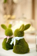 Moss Covered Spring Bunnies – shared in the Style Me Pretty Vault