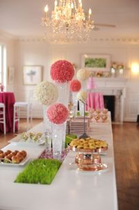 Pink and White Carnation Flowers Sphere Table Décor – shared on United with Love