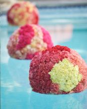 Pink Floating Carnation Flowers Pool Spheres – spotted on Pinterest