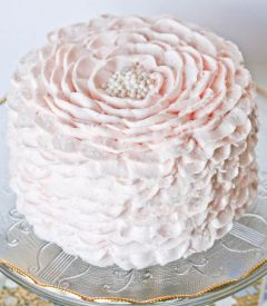 Pink Ruffle Cake –created and shared by Christina of Sweet Escape Cakes