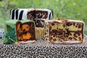 Animal Print INSIDE the Cake – recipe and tutorial shared by Sweet Dreams