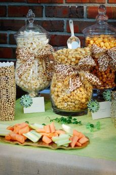 Animal Print Popcorn and Food Display – shared by A Small Snippet
