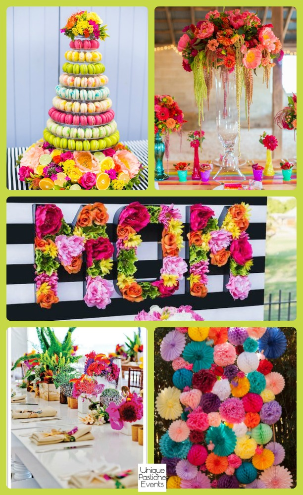 Eclectic and Colorful Mother's Day Party Ideas