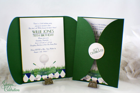 Golf Party Invitations Created And Sold By SDezigns On Etsy