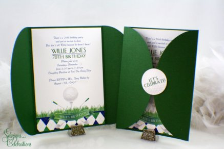 Golf Party Invitations – created and sold by SDezigns on Etsy