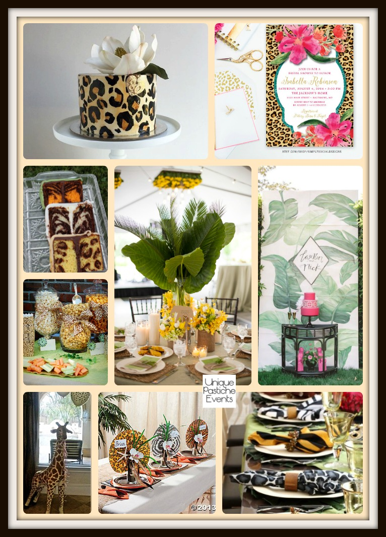 Jungle Animal Print Celebration – Themed Party Ideas See the full post with all the details here: https://uniquepasticheevents.com/2016/04/06/jungle-animal-print-celebration-themed-party-ideas/