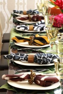 Jungle Animal Print Napkins – spotted on Pinterest