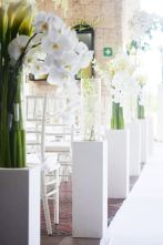 Modern White and Green Orchid Wedding Altar Pillars – spotted on Pinterest