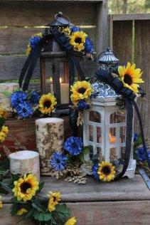 Rustic Brown Weathered Wood and Metal Candle Lantern – sold by LittleBitMyStyle on Etsy