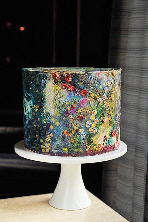 Abstract Artistic Painted Cake By Maggie Austin Cake