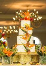Bird of Paradise Wedding Cake – shared on Laissez Affairs