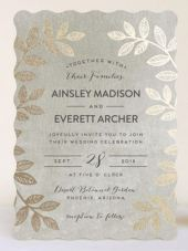 Folk Filigree Gold Foil Invitations – created and sold by pandercraft on Minted