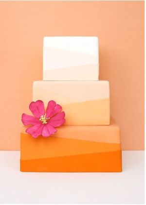 Orange Ombre Modern Cake – created by Eat Cake Be Merry