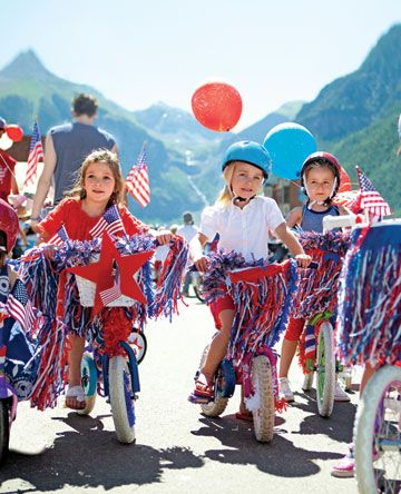 4th of July Bike Parade Décor