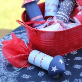 4th of July Candy Rockets – tutorial shared by All Things G and D