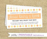 Citrus Dots Invitations and Request Cards – created and sold by PrettilyPrintable on Etsy