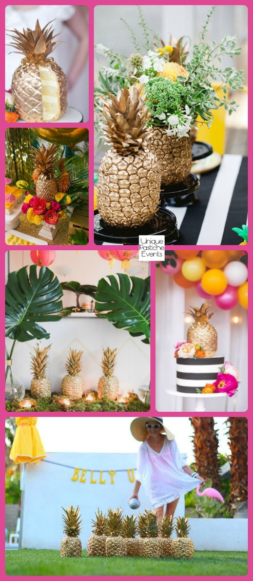 Golden Pineapple – Summer Party Ideas