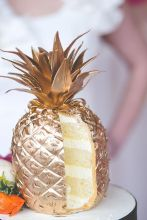Golden Pineapple Layered Cake - shared by MidwestBride