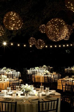 Hanging Vine Spheres with Fairy Lights