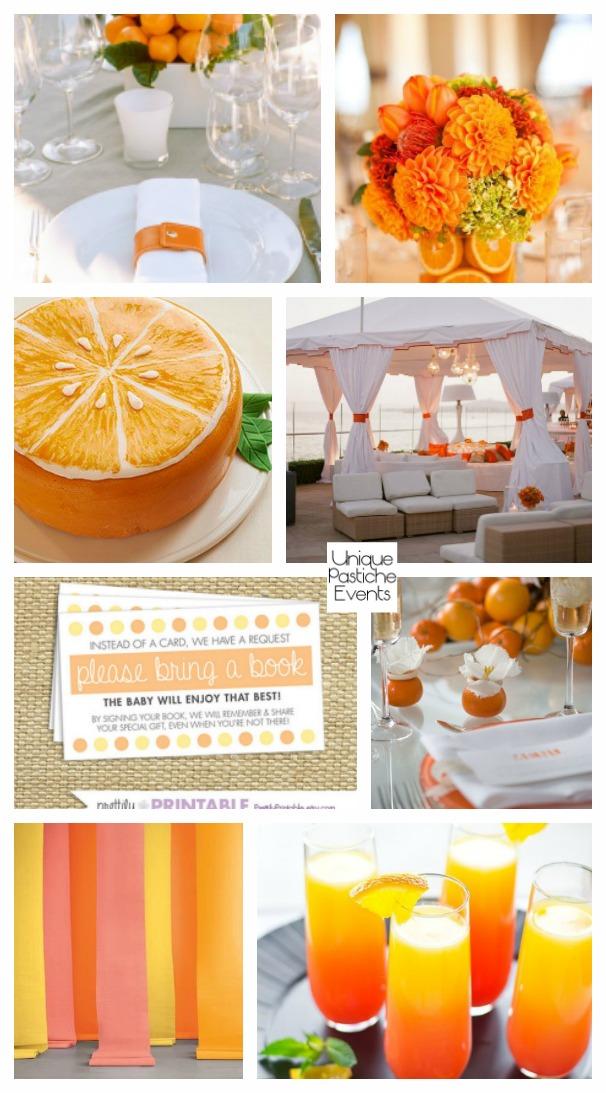 Modern Orange and Citrus Summer Party
