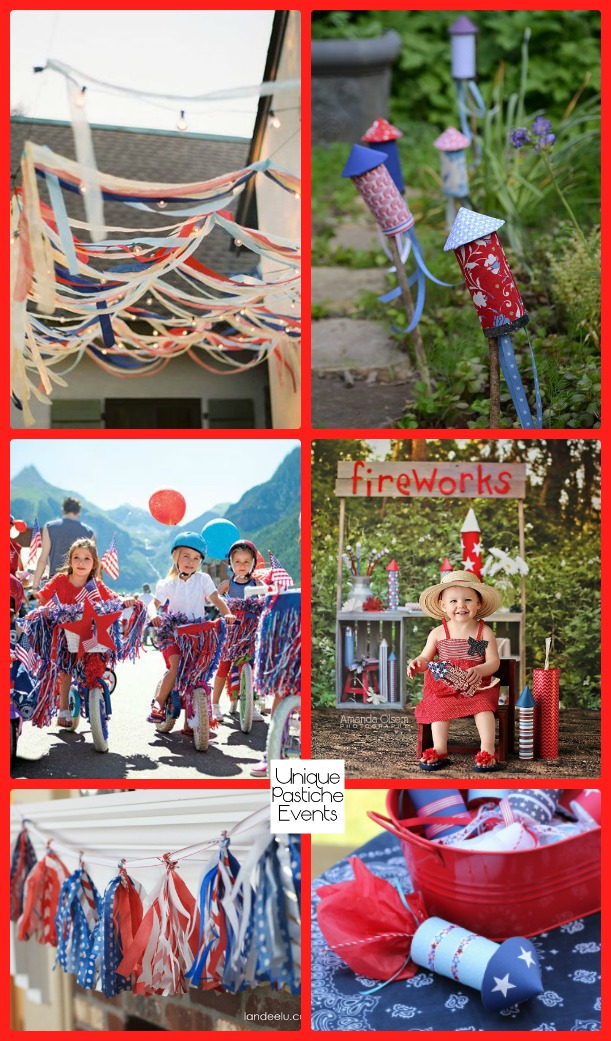 Rockets and Ribbons – Patriotic 4th of July Party Ideas