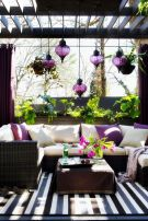 Berry and Plum Modern Outdoor Living Room Patio – shared by the Seattle Times