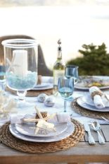 Coastal Beach Tablescape – shared by Williams Sonoma