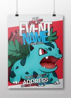 Custom Kids Pokémon Birthday Party Invitation Printable – created and sold by MinishWorkshops on Etsy