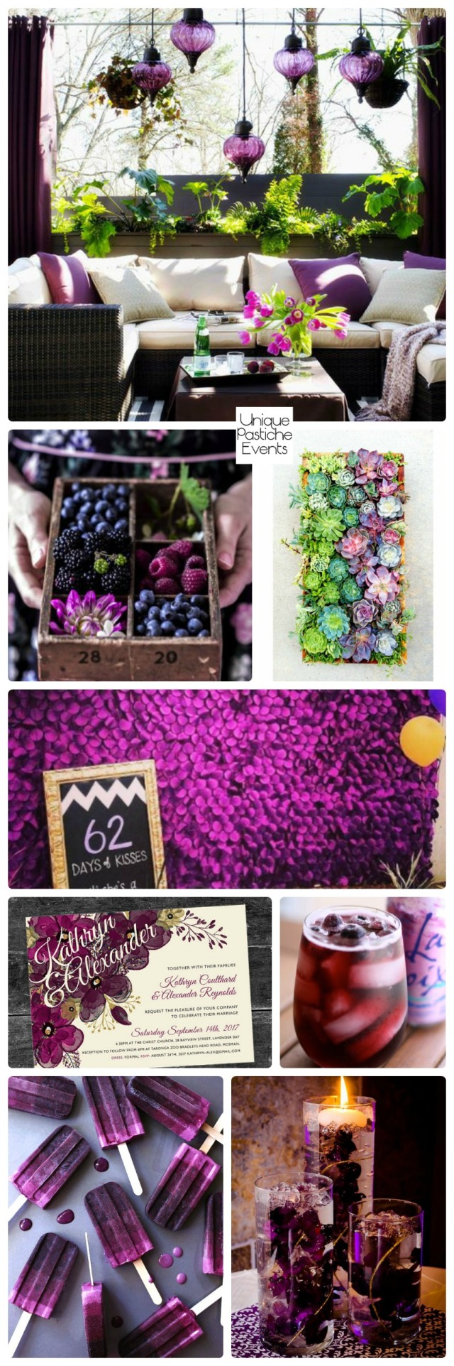 End of Summer Dinner Party Soiree in Berry Hues
