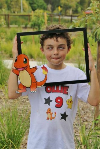 Pokémon Party Photo Opp Frame with Charmander - shared by Debbie M on Catch My Party