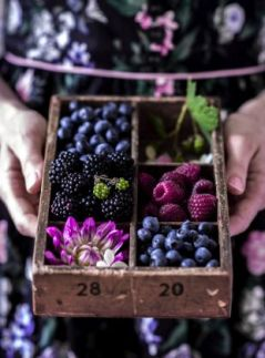 Purple, Plum, and Berry Food Display