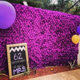 Purple Plum Petal Photo Booth Backdrop – shared by blkbridalbliss on Instagram