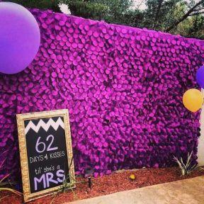 Purple Plum Petal Photo Booth Backdrop – shared by blkbridalbliss on Instagram