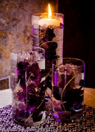 Purple Plum Submerged Wisteria Centerpieces – shared by Desiree Banka on Flickr