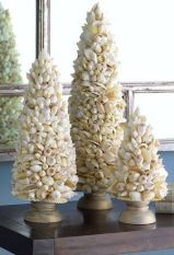 Shell Christmas Trees Décor – shared in a round up post by Designer Décor