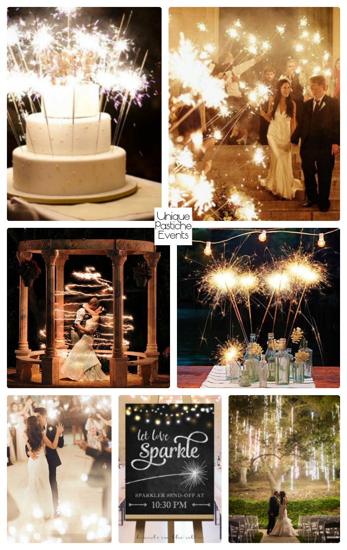Starry Night Sparkler Wedding