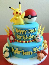 Tiered Pokémon Birthday Cake – spotted on Pinterest