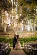 Wedding Ceremony Under the Illuminated Tree – shared in a roundup post on
