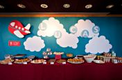 Airplane Buffet Backdrop – spotted on Pinterest