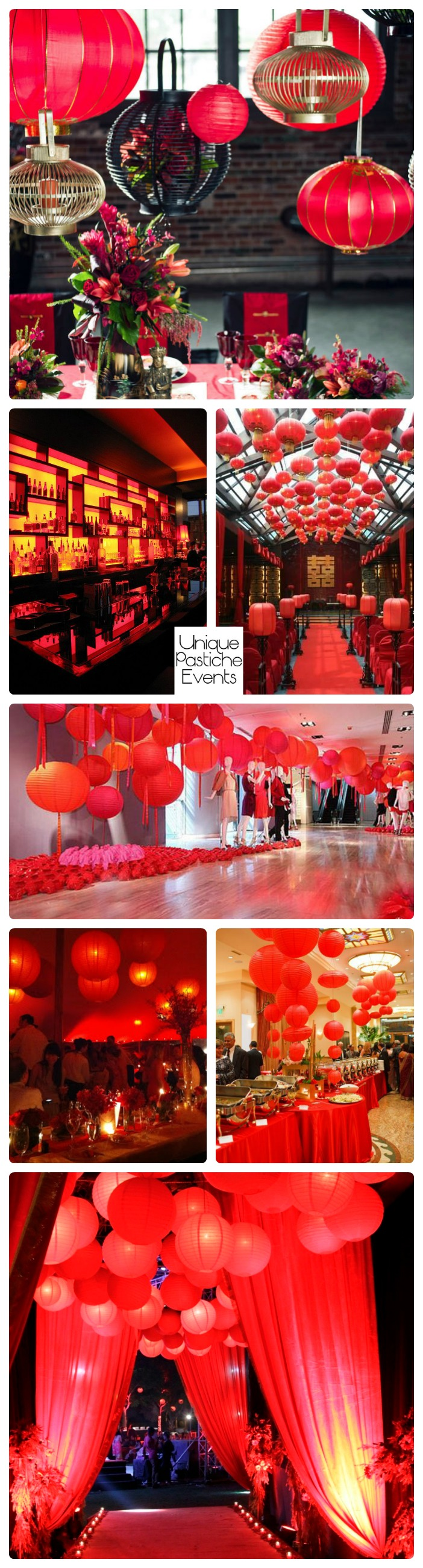 Asian Infused Wedding in Red with Paper Lanterns